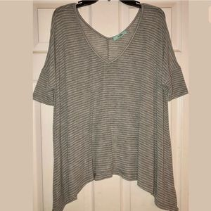 KARLIE Striped Oversized Shirt Tunic Size Small S